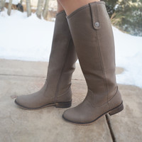 The Camille Boots - Beige