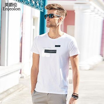 cotton t shirt men 3 color black white printing clothing o neck short sleeve clothes casual clothing