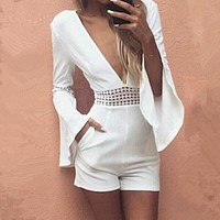 Magnetic V Party Playsuit