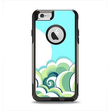 The Retro Blue Vintage Vector Wave Apple iPhone 6 Otterbox Commuter Case Skin Set