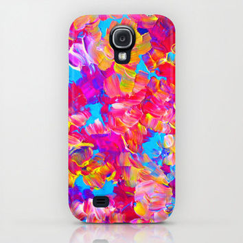FLORAL FANTASY iPhone 4 4s 5 5c 6 Case Samsung Galaxy Case Neon Hot Pink Bold Abstract Floral Summer Flower Pattern Gift for Her Cell Cover