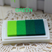 Craft Oil Based DIY Ink Pad Rubber Stamps Fabric Wood Paper Scrapbooking 6 Colors Inkpad Finger Paint