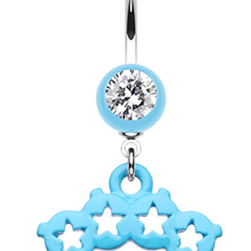 Star Brass Knuckle Belly Button Ring