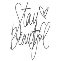 STAY BEAUTIFUL  Stretched Canvas by Sjaefashion | Society6