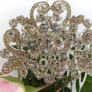 """Crystal Bridal Hair Comb """"Beauty of Nature"""", Wedding Hair Pieces, Rhinestone Combs, Wedding Hair Accessories, Bridal Headpieces"""