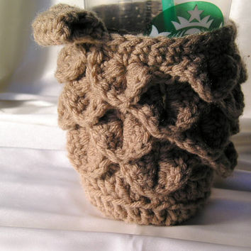 Coffee Cup Cozy in Beige