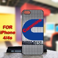 CUMMINS Turbo Diesel Logo For IPhone 4 or 4S Black Case Cover