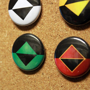 """Icons - Set of 4 - 1"""" Inch Badges / Pins"""