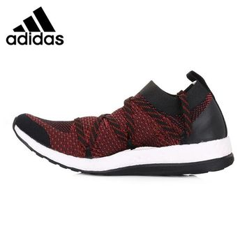 Adidas Clover Pure Boost X STELLA MCCARTNEY Women's Running Shoes, Red & Black, Breathable  Non-Slip  Wear-resistant AQ3709