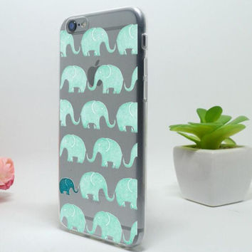 Cute Green Elephant Mobile Phone Case For iPhone 7 7 plus Iphone 5 5s SE 6 6s 6plus 6s plus + Nice gift box!