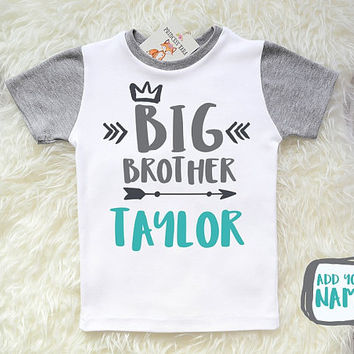Big Brother Shirt. Big Brother Announcement. Pregnancy Announcement. Family Shirt. Add Your Name.