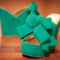 Camila-2 Oversized Bow Open Toe Wedge