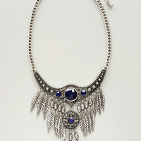 Lapis Silver Statement Necklace