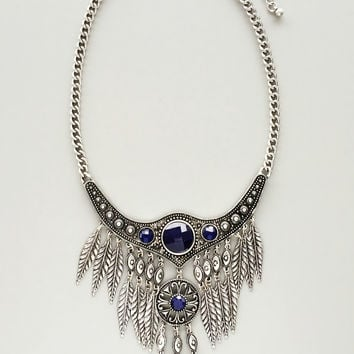 Ophelia Silver Statment Necklace