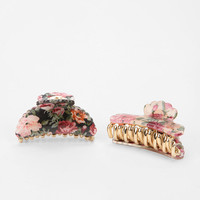 Gardenia Floral Hair Clip - Set of 2