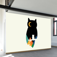 Eye on Owl Wall Mural