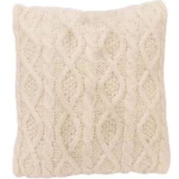Cowgirl Kim Cream Cable Knit Pillow
