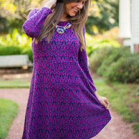Away From Me Dress, Plum/Navy