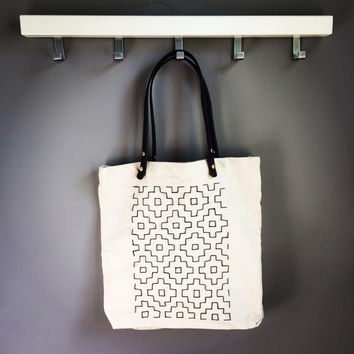 Sashiko Canvas Tote bag