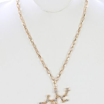 Gold Zodiac Constellation Necklace II
