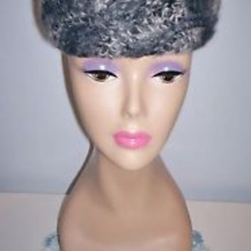 Charming Vintage Women's Amy of NY Boston Store Gray Pillbox Dress Hat Size 21