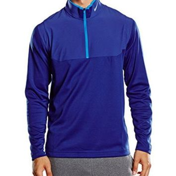 ICIK8BW Nike Golf Dri-FIT 1/2-Zip Top DEEP ROYAL BLUE/DEEP ROYAL BLUE/PHOTO BLUE/WOLF GREY S