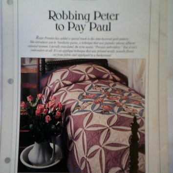 Robbing Peter to Pay Paul Best Loved Quilt Pattern Oxmoor House