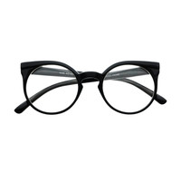 Retro Vintage Style Keyhole Clear Lens Cat Eye Round Glasses Frames R1790