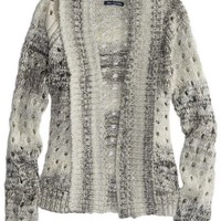 AEO Women's Open Metallic Knit Cardigan