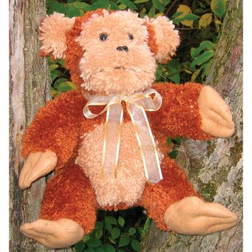 Monkey Huggables Stuffed Toy Latch Hook Kit 15""