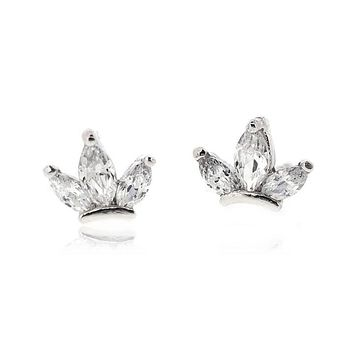 MARQUISE SHAPE STUD EARRINGS