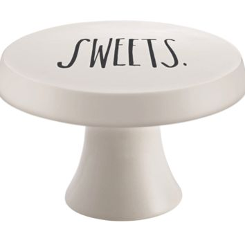 "Rae Dunn Stem Print ""Sweets"" Cake Stand"