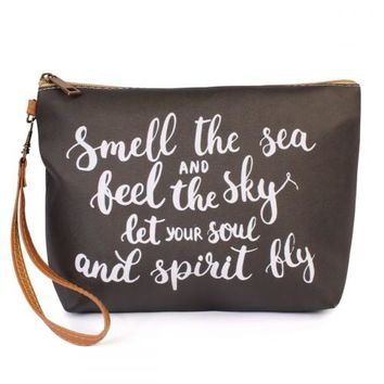 Smell the Sea and feel the sky make-up bag