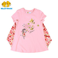 Bello Mouse Fashion Design Girls' Cotton Summer Shirts female children kids' short sleeve blouse teenager cute clothes hot sale
