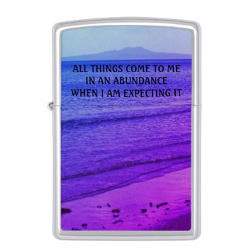 Abundance Photo Quote by Kat Worth Zippo Lighter