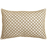 Metallic Beaded Pillow - Ivory