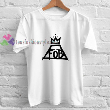 Fall Out Boy Logo t shirt gift tees unisex adult cool tee shirts buy cheap