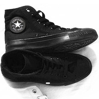 """Converse"" Fashion Canvas Flats Sneakers Sport Shoes High tops Black"