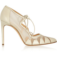 Bionda Castana - Dekota leather and mesh pumps
