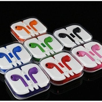WHITE Apple Earpods Earphone Remote & Mic for ipad Iphone 5 5s 5c 8Color = 1696741828