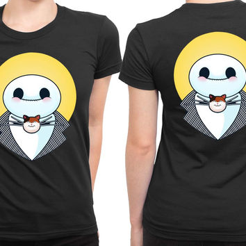 Baymax The Nightmare 2 Sided Womens T Shirt