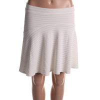 Bar III Womens Striped Above Knee A-Line Skirt
