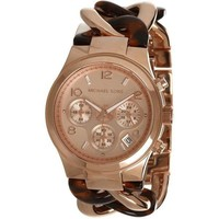 Michael Kors Runway Tortoise Acetate And Rose Gold-Tone Ladies' Watch - MK4269