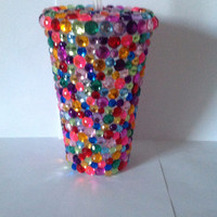 Colorful Rhinestone Tumbler Cup