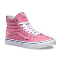 Iridescent Eyelets SK8-Hi Slim Zip | Shop Womens Shoes at Vans