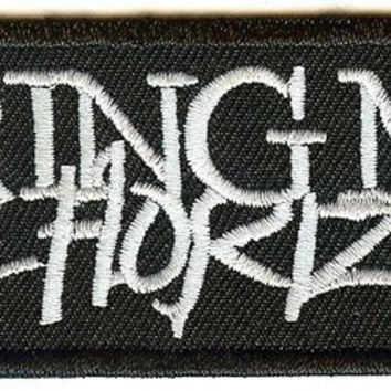 Bring Me The Horizon Iron-On Patch White Letters Logo