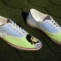 Flight of the Conchords hand painted shoes