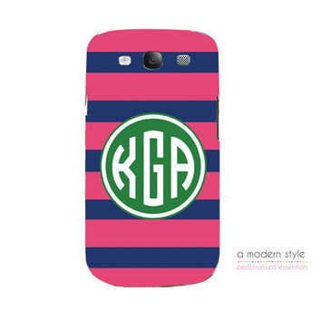 Monogrammed Samsung Galaxy 3 Case - Personalized Samsung Galaxy 3 Case