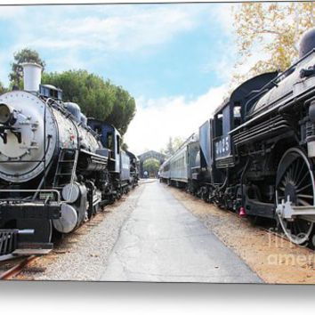 Vintage Steam Locomotive 5d29143 Metal Print
