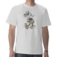 Mickey Mouse Vintage Washout Design Tshirts from Zazzle.com